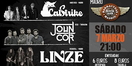 CATSTRIKE, JOHN COR Y LINZE EN BARRACUDAS ROCK BAR MADRID entradas
