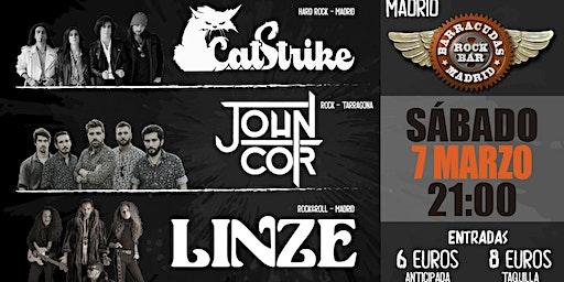 CATSTRIKE, JOHN COR Y LINZE EN BARRACUDAS ROCK BAR MADRID