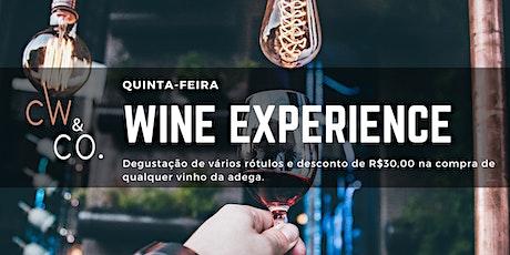 20/02 (quinta-feira) Wine Experience | Uma noite, vários rótulos! ingressos