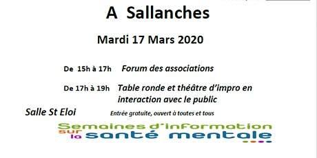 Stand et table ronde SISM Sallanches billets