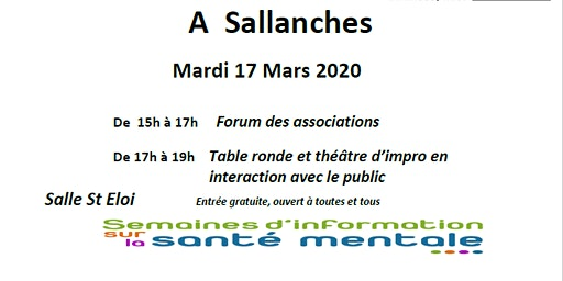 Stand et table ronde SISM Sallanches