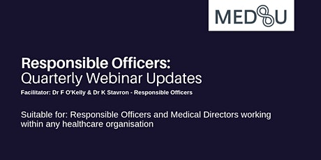 Responsible Officers - Quarterly Update Webinar: Review of Paterson Case and GMC Fair to Refer Report tickets