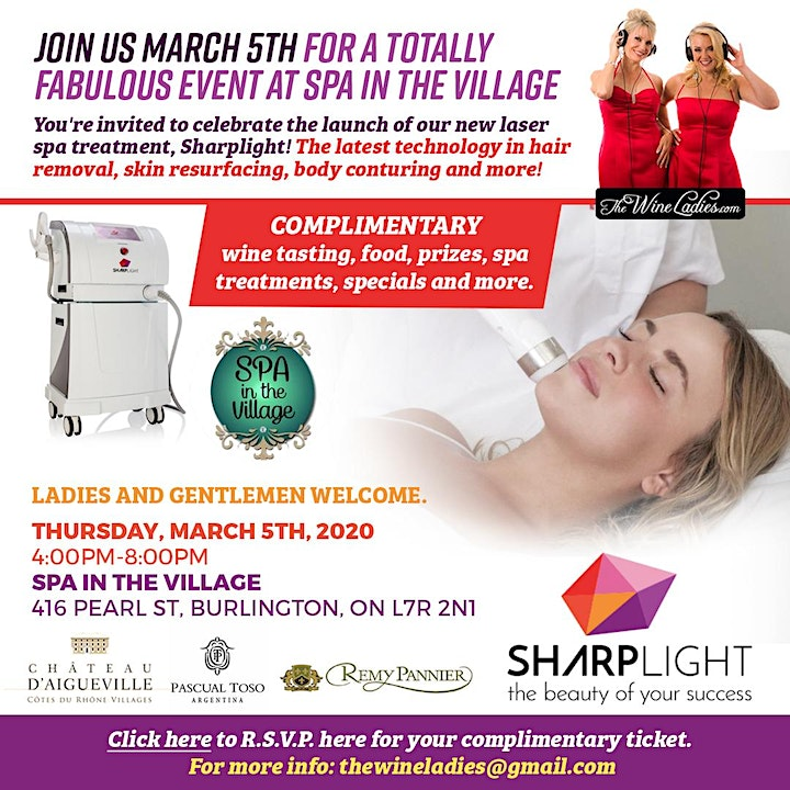 Join Us March 5th Spa in the Village image