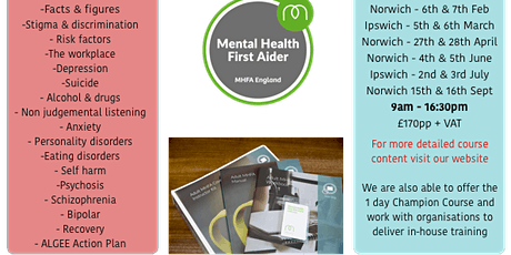 Adult Mental Health First Aid Training (Mental Health England Accredited)  tickets