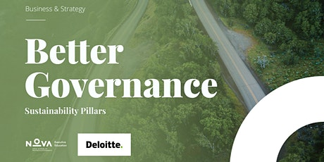 II Better Governance: Sustainability Pillars bilhetes