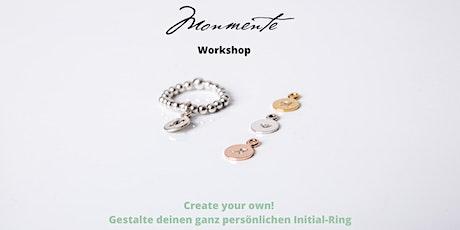Create your own! Gestalte deinen ganz persönlichen Initial-Ring Tickets