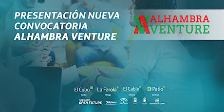 Presentación de la nueva convocatoria de Alhambra Venture, en El Patio entradas