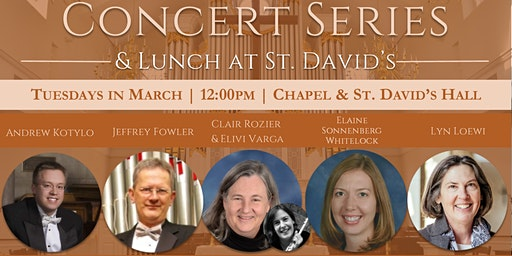 American Guild of Organists March Concert Series & Lunch