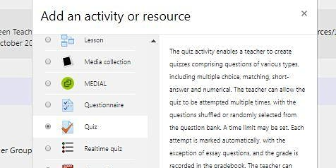 CEPS event: Getting the Most out of Moodle Quiz