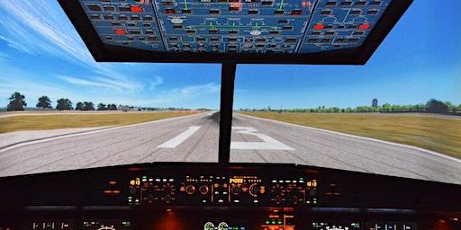 Charla sobre seguridad aérea y visita a simulador ✈️