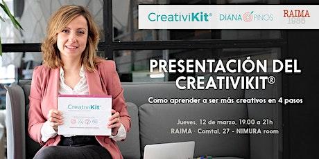 Creativikit® como aprender a ser más creativo en 4 pasos tickets