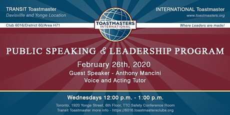Transit Toastmaster Club Meeting tickets