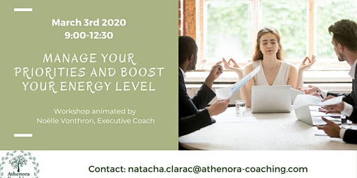 Manage your priorities and boost your energy levels