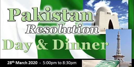 Pakistan Resolution Day Celebrations & Full Course Dinner 2020