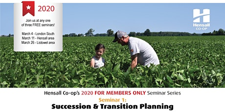 Hensall's 'For Members Only' - Succession & Transition Planning Mar. 26 tickets