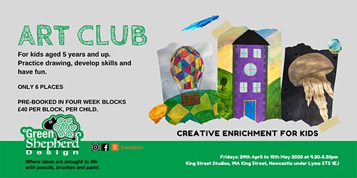 ART CLUB (A Kids Art Club on Fridays - £40 for Four Weeks)