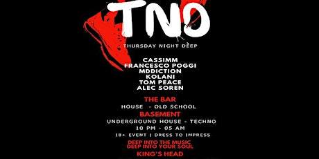 TND (Thursday night deep) 2020 opening party, new location tickets