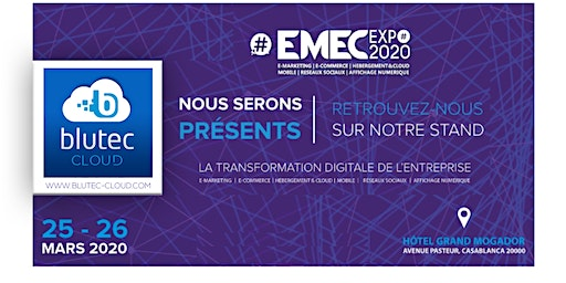 EMEC EXPO - 25 & 26 March 2020 (Blutec Cloud stand)