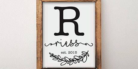 Rustic Chic Personalized Sign tickets