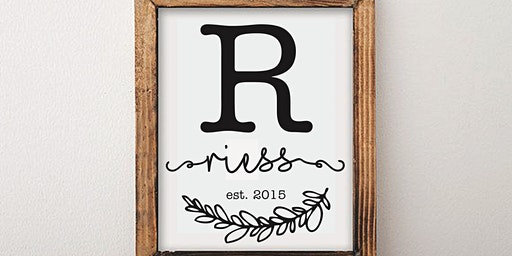 Rustic Chic Personalized Sign