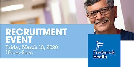 Frederick Health Recruitment Event tickets