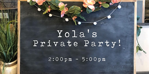 Yola's Private Party | Wood Sign Workshop | Invite Only