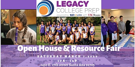 Ednovate Legacy College Prep Open House and Resource Fair tickets
