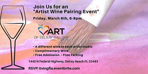 Artist Wine Pairing at the Heart of Delray Gallery