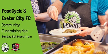 Community Fundraising Meal FoodCycle and Exeter City Football Club tickets