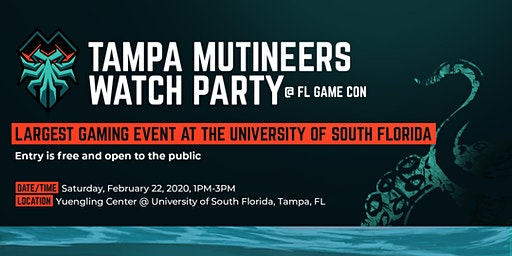 FL Mutineers Watch Party @ FL Game Con