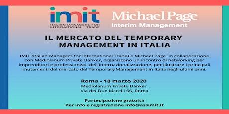 Il mercato del Temporary Management in Italia - Roma, 18 marzo 2020 biglietti