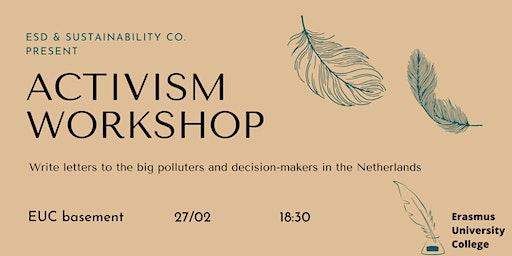 Activism Workshop: Letter Writing