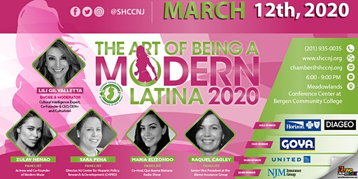 The Art of Being a Modern Latina 2020- Cocktails, Tapas and Panel
