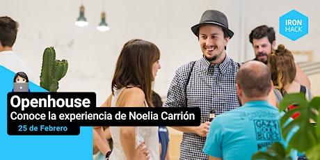 Jornada de Puertas Abiertas - conoce la experiencia de Noelia Carrión entradas
