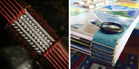 Upcycled Bookbinding: Buttonhole Binding tickets