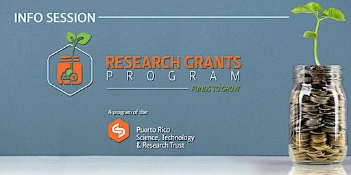 Info Session (UPR  Río Piedras) - PRSTRT Research Grants Program