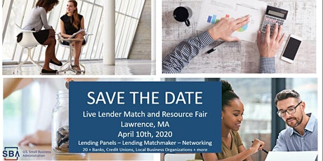 SBA Massachusetts Live Lender Match and Resource Fair Merrimack Valley tickets