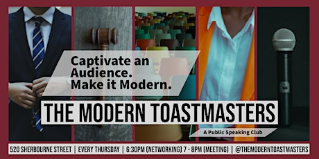The Modern Toastmasters - Weekly Public Speaking Meetup tickets