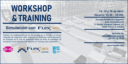 FlexSim Workshop y Training en la Universidad de A Coruña