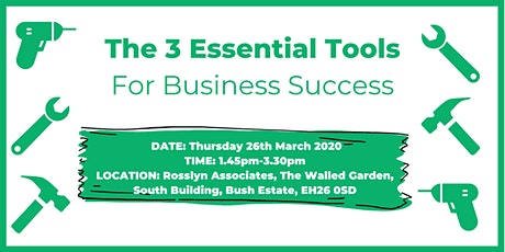 The 3 Essential Tools for Business Success tickets