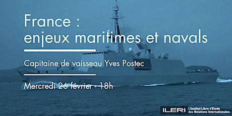 France : enjeux maritimes et navals billets