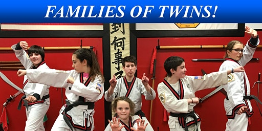 FAMILIES OF TWINS!  INVITATION TO MARTIAL ARTS LESSONS