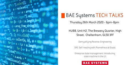 BAE Systems Tech Talks 26th March 2019 tickets