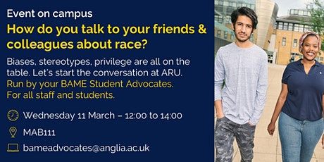 How do you talk to your friends and colleagues about race? tickets