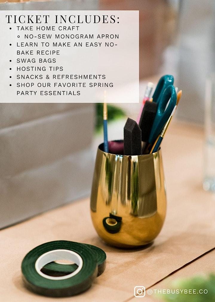 No-Sew Monogram Apron & Easy No-Bake Recipe: Ladie's Crafting Night! image