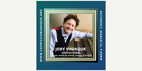 Virtuoso harpsichordist Jory Vinikour performs Baroque masterpieces tickets