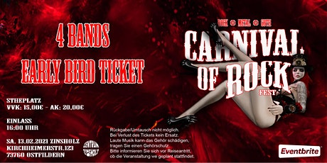 CARNIVAL OF ROCK - Early Bird Ticket Tickets