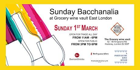 Sunday Bacchanalia Wine Tasting tickets