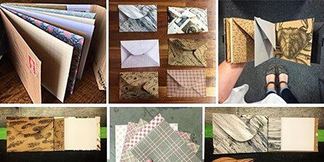 Upcycled Bookbinding: Envelope Binding tickets