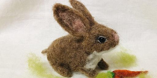 Needle Felt Bunny Rabbit Workshop @Craft4Crafters Show - Bath & West